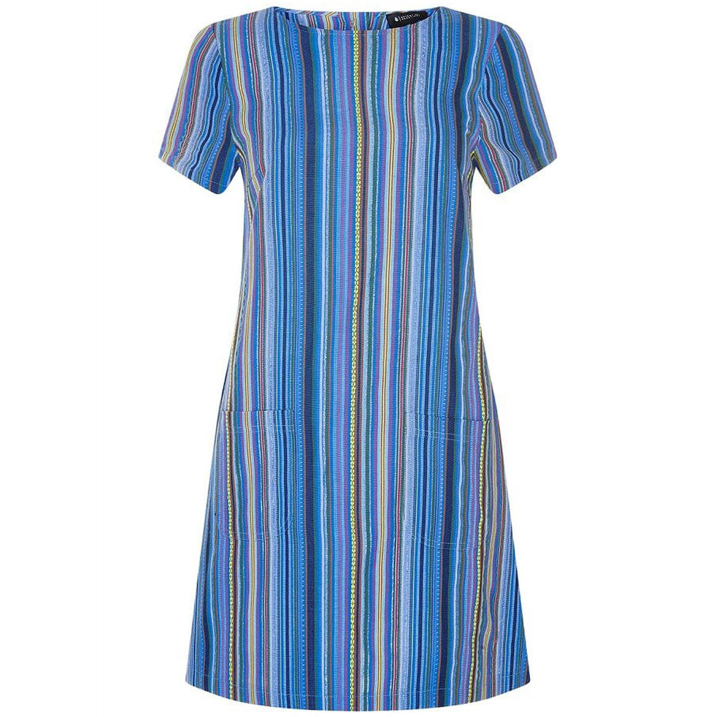 Ella BRIGHT & BEAUTIFUL Retro 60s Mod Stripe Dress