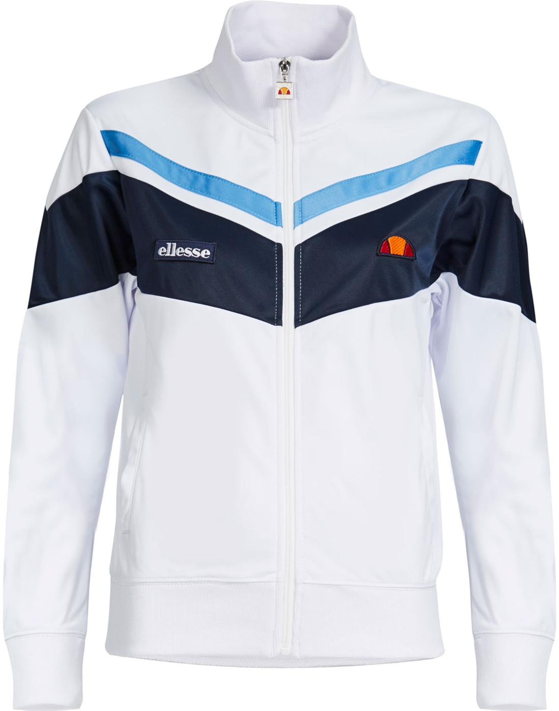 53f7748b2e06 ELLESSE Women s Daria Retro 70s Track Top Jacket in White