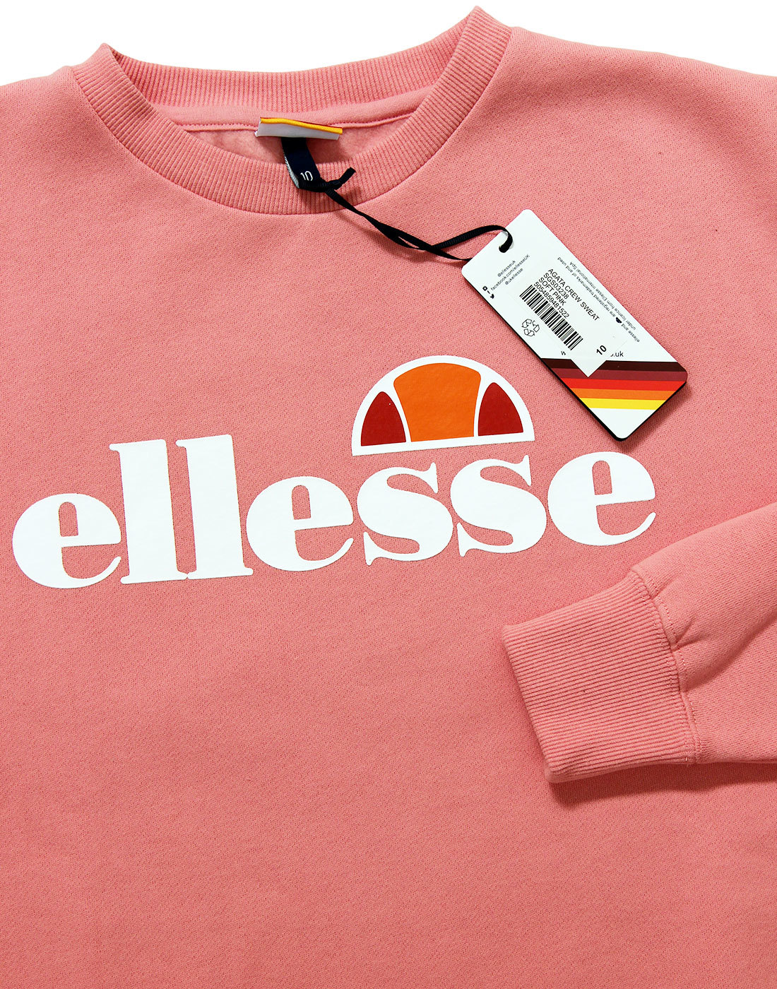 79b83835 ELLESSE WOMENS Agata Retro 80s Sweatshirt in Candy Pink
