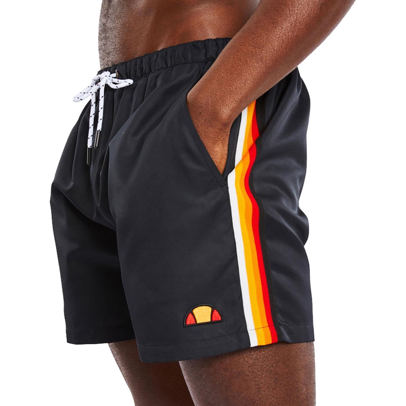 Borgo ELLESSE Retro Sports Stripe Swim Shorts B