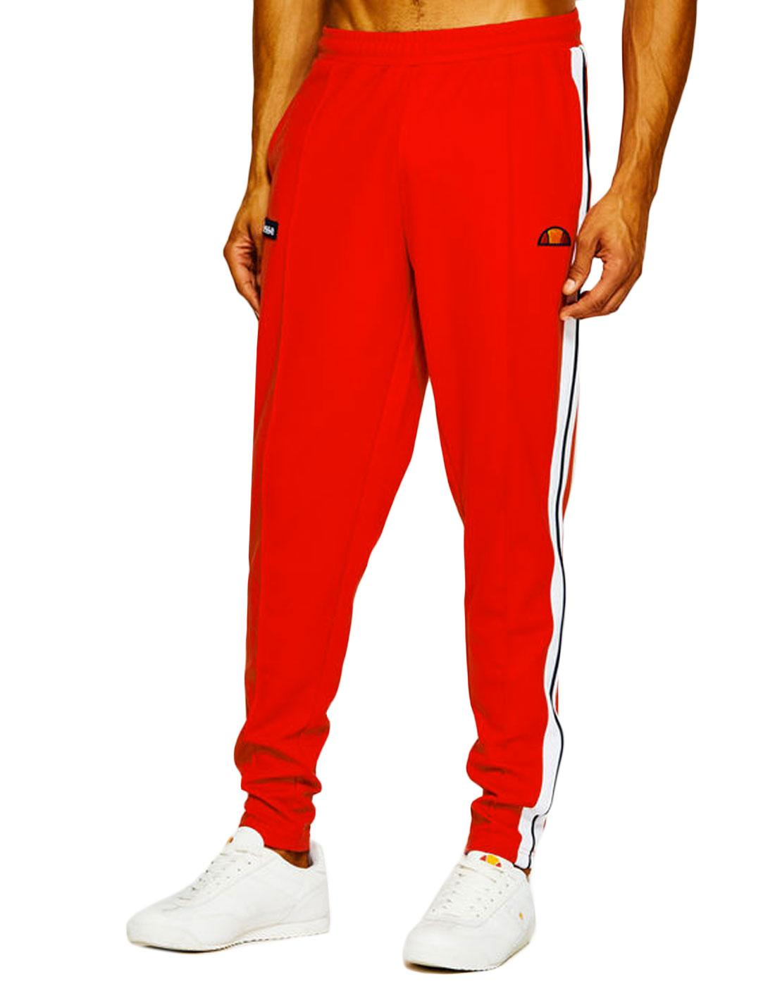 Casse ELLESSE Retro Stripe Panel Track Bottoms RED