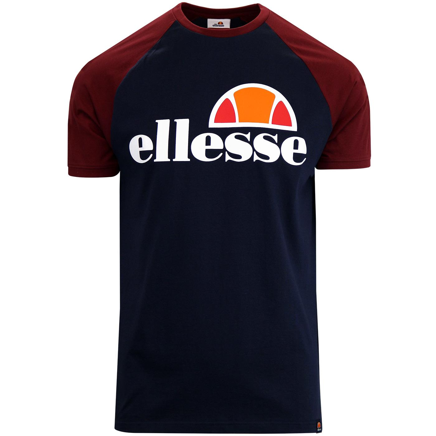 Cassina ELLESSE Men's Retro 80s Raglan T-shirt DB