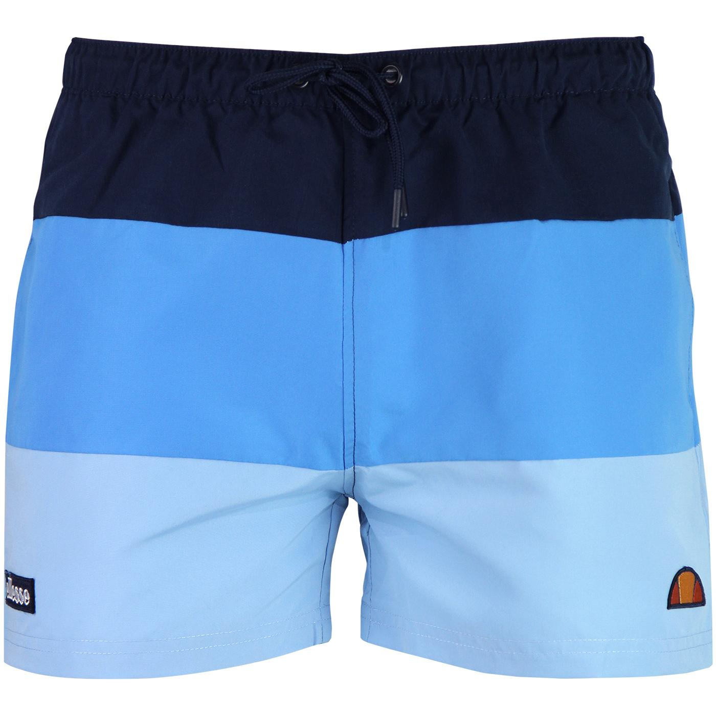 de4c36fa3c ELLESSE Cielo Retro 1980s Colour Block Shorts in Light Blue