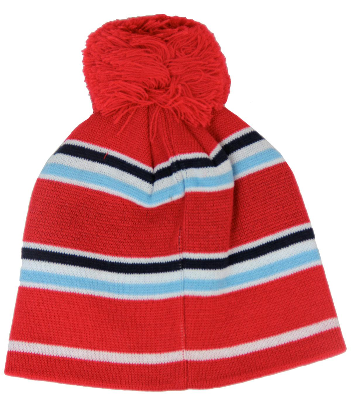 f115a936 ELLESSE Ettore Retro 80s Indie Bobble Hat In Red