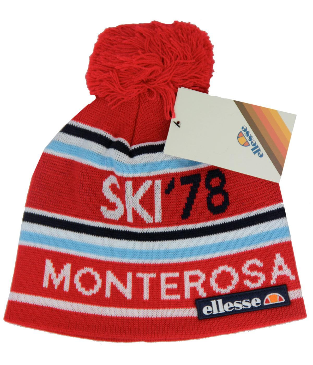 5acd211636d ELLESSE Ettore Retro 80s Indie Bobble Hat In Red