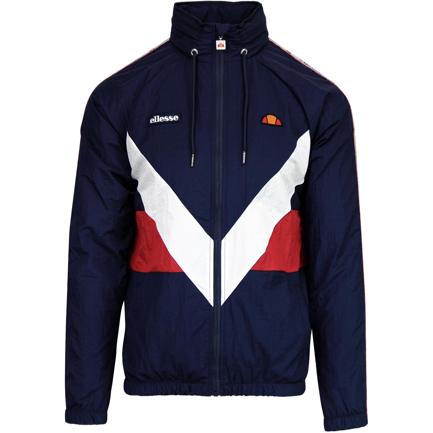 Gerano ELLESSE Retro 80s Shell Suit Jacket in Navy