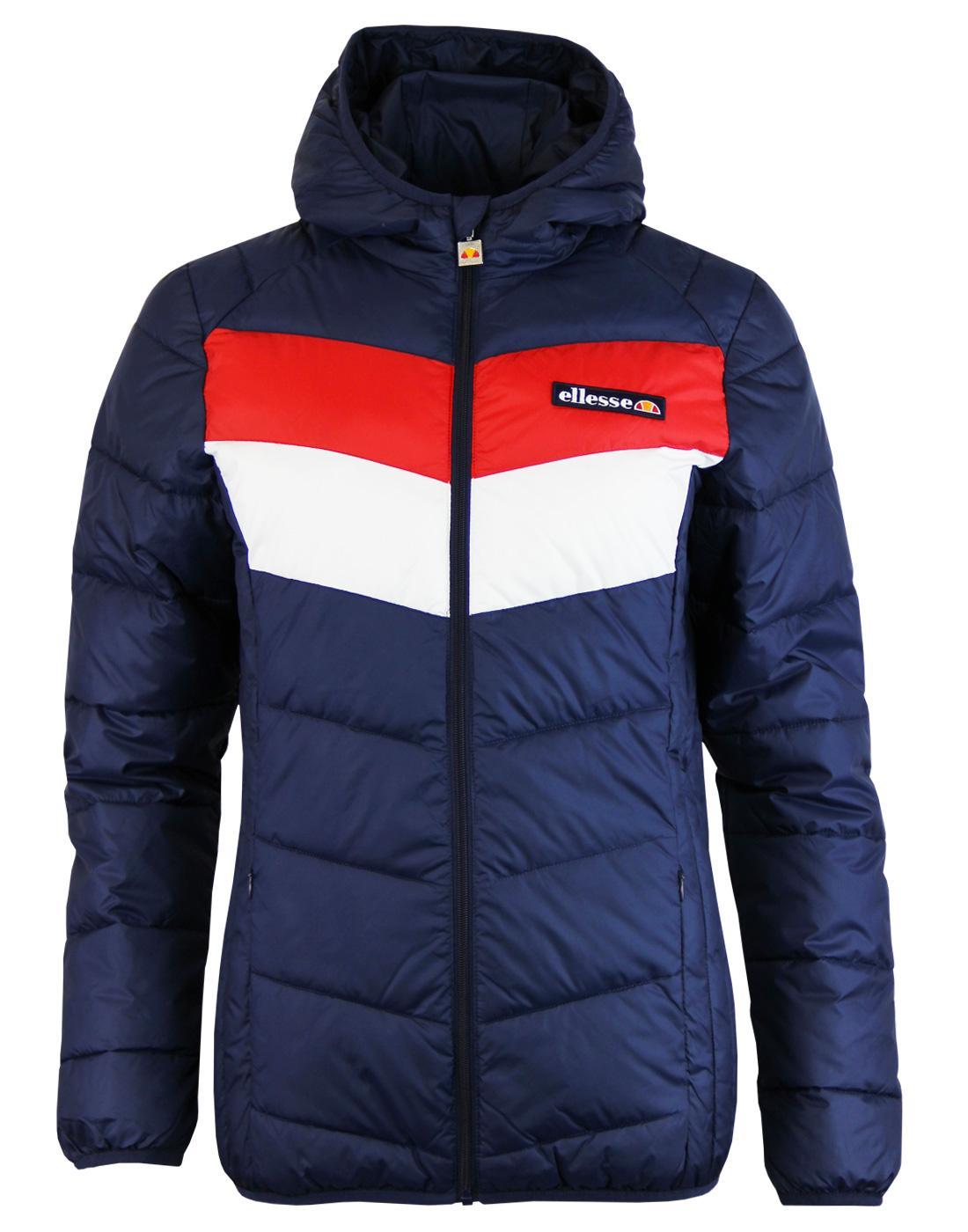 Ginette ELLESSE Retro 70s Chevron Ski Jacket (DB)