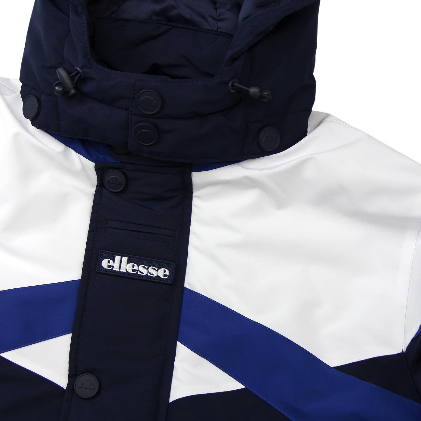 Meo Ellesse Men S 80 S Panel Padded Jacket In Dress Blue