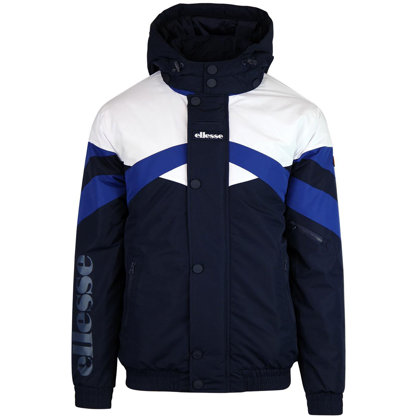 Meo ELLESSE Men's Retro 80's Panel Padded Jacket