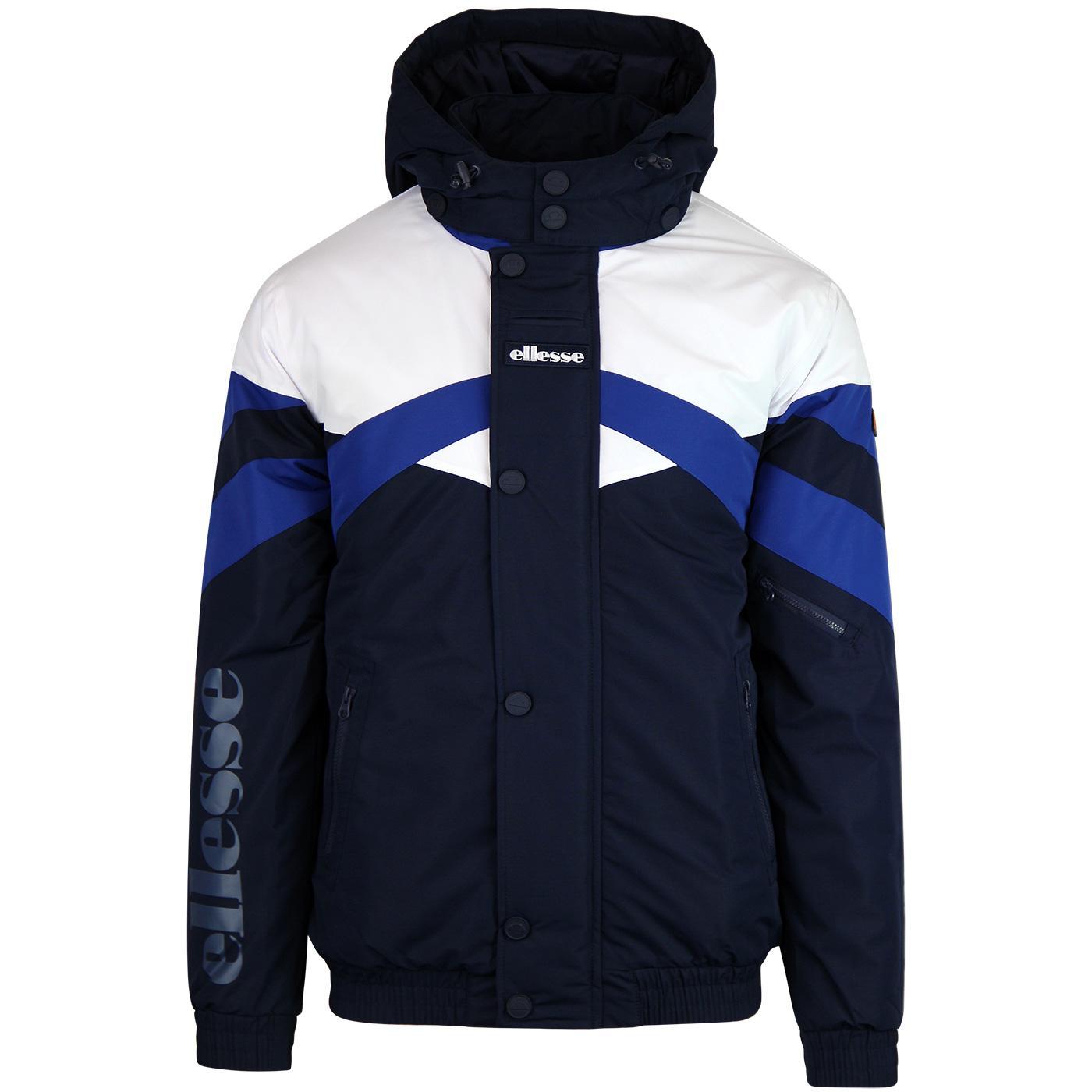 Meo ELLESSE Men's Retro 80's Panel Padded Jacket