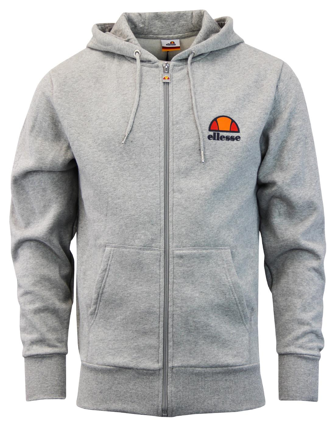 Miletto ELLESSE Retro 1980s Zip Through Hooded Top
