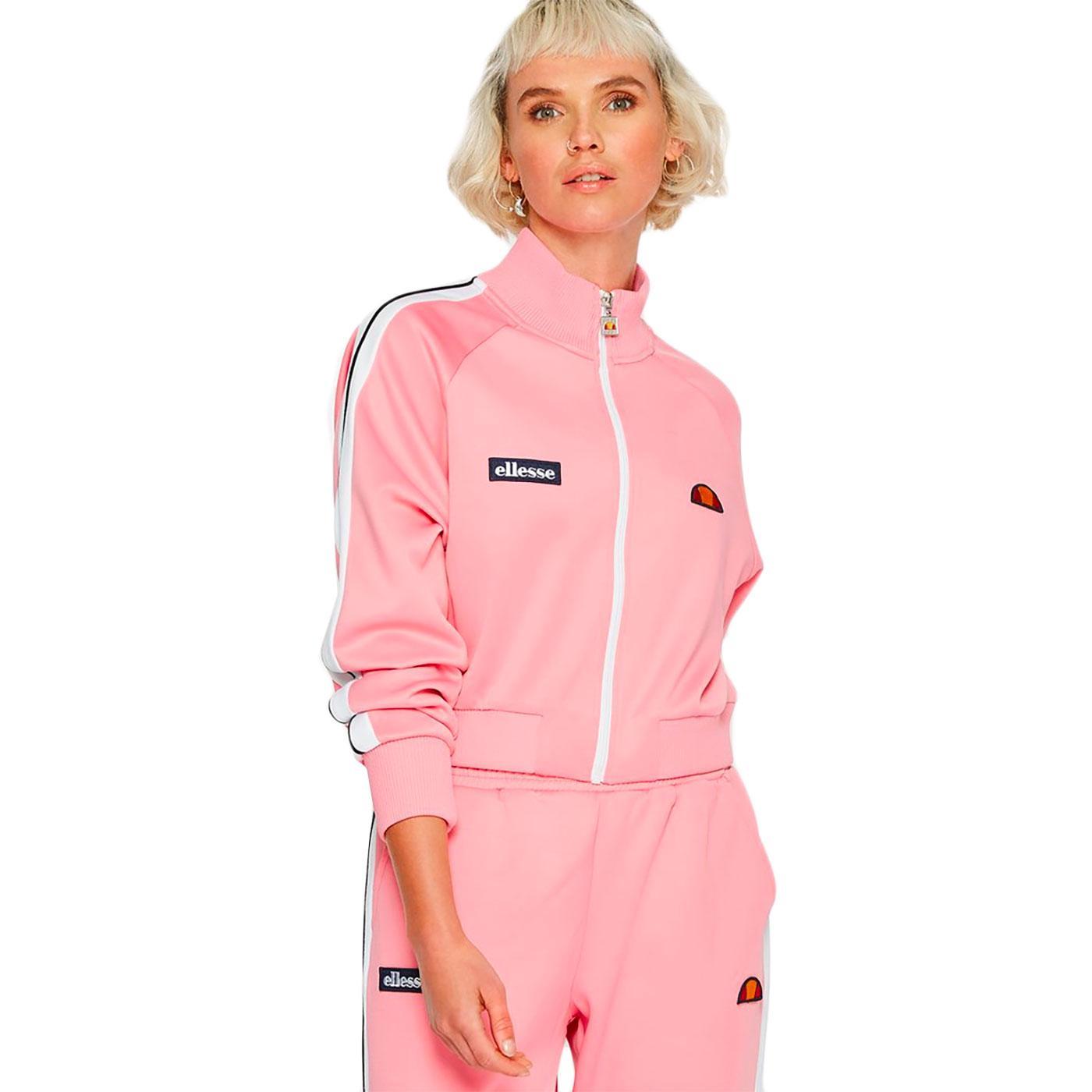 Pinzo ELLESSE Retro 1980s Crop Track Jacket (Pink)