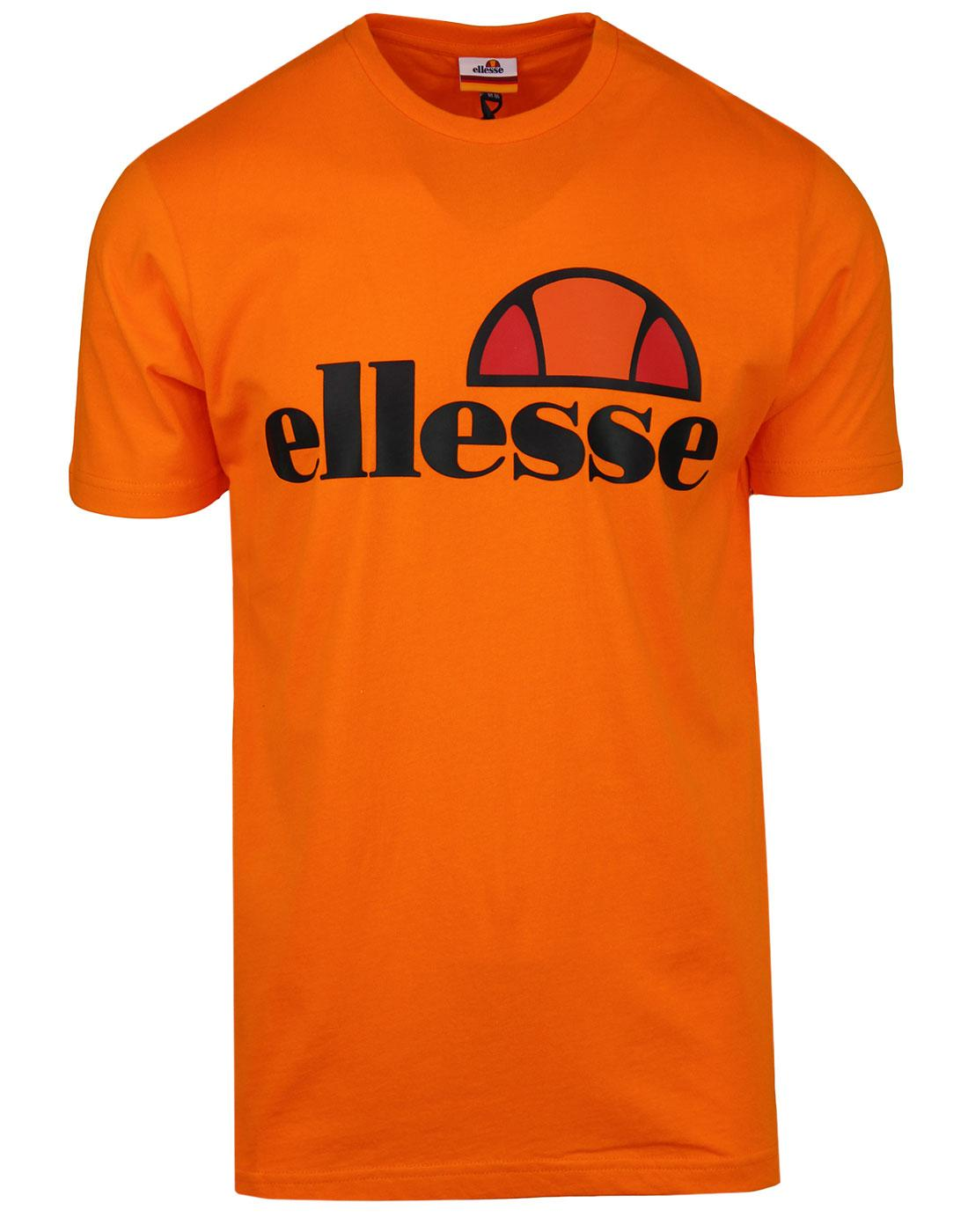 Prado ELLESSE Men's Retro 80s Logo T-shirt ORANGE