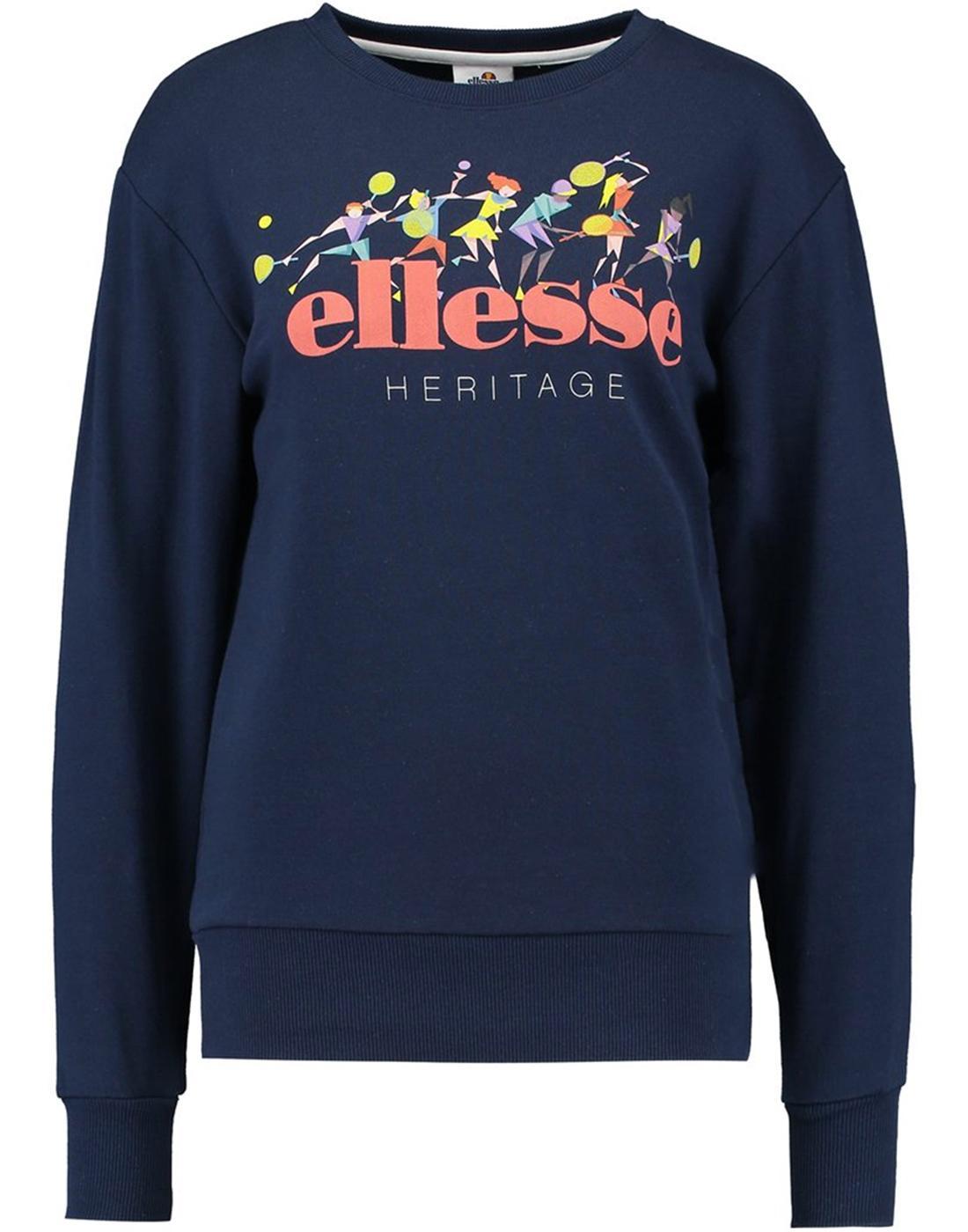 Marchetti ELLESSE Womens Retro 80s Archive Sweater