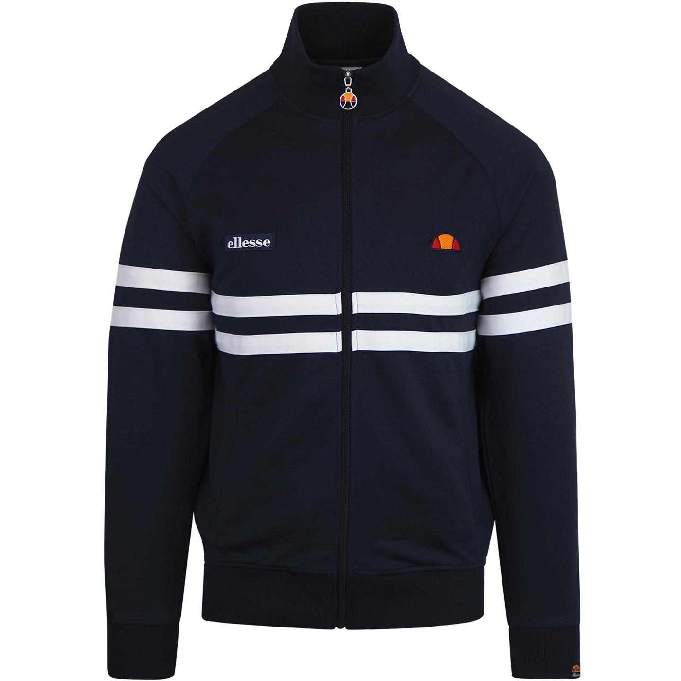 Rimini ELLESSE Retro 80s Casuals Track Top NAVY
