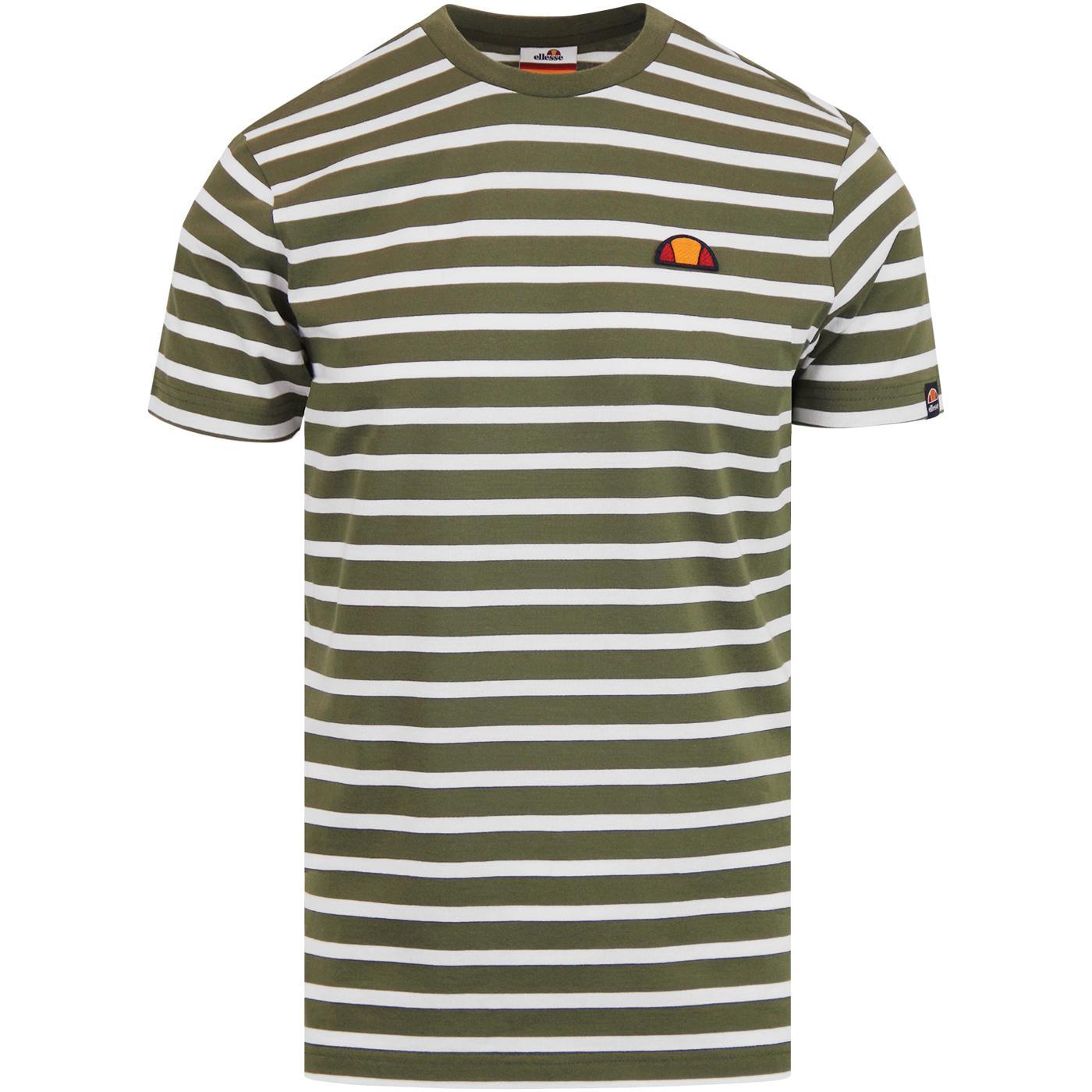 Sailo ELLESSE Mens Retro Breton Stripe T-Shirt K