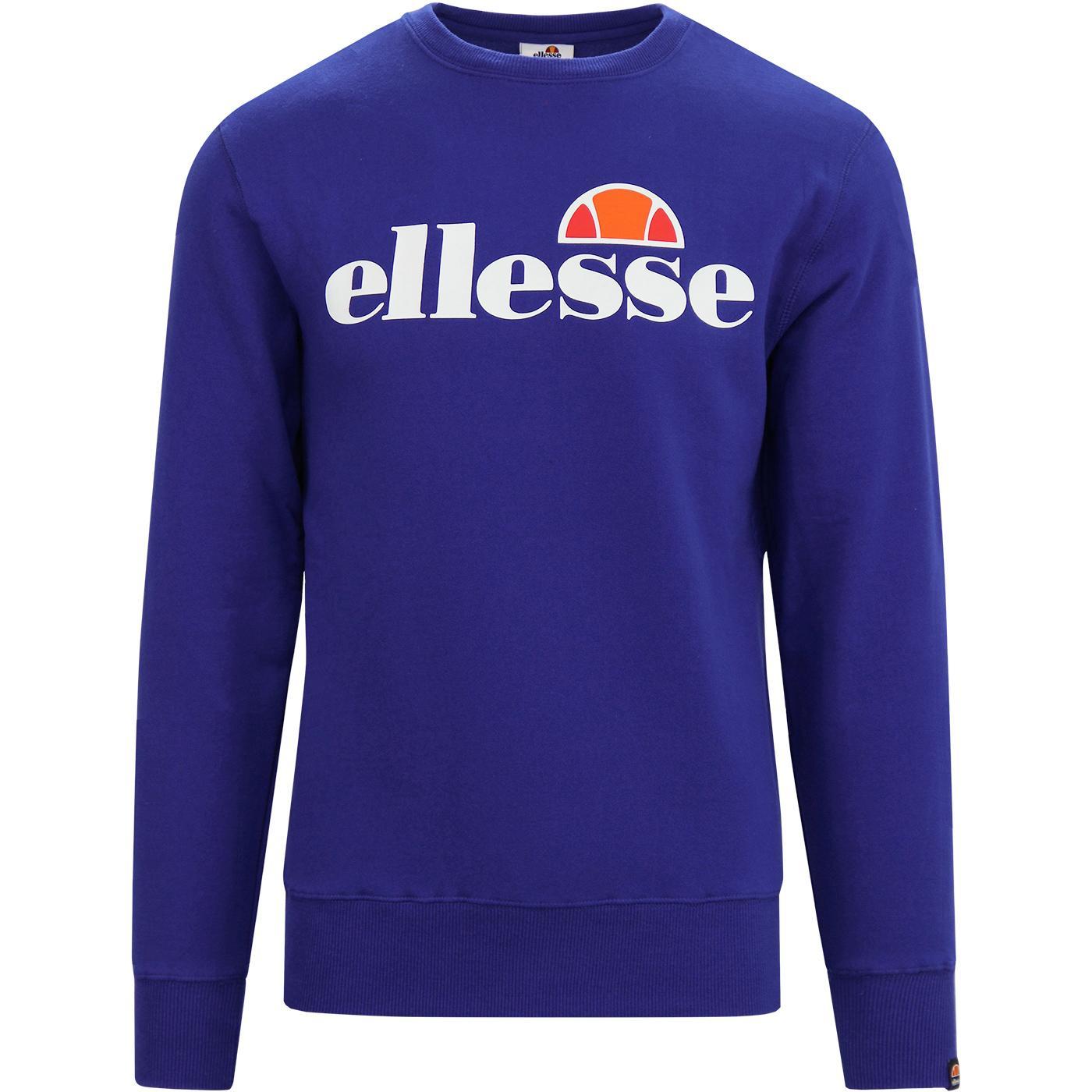 Succiso ELLESSE Retro 70s Crew Neck Sweatshirt Bl