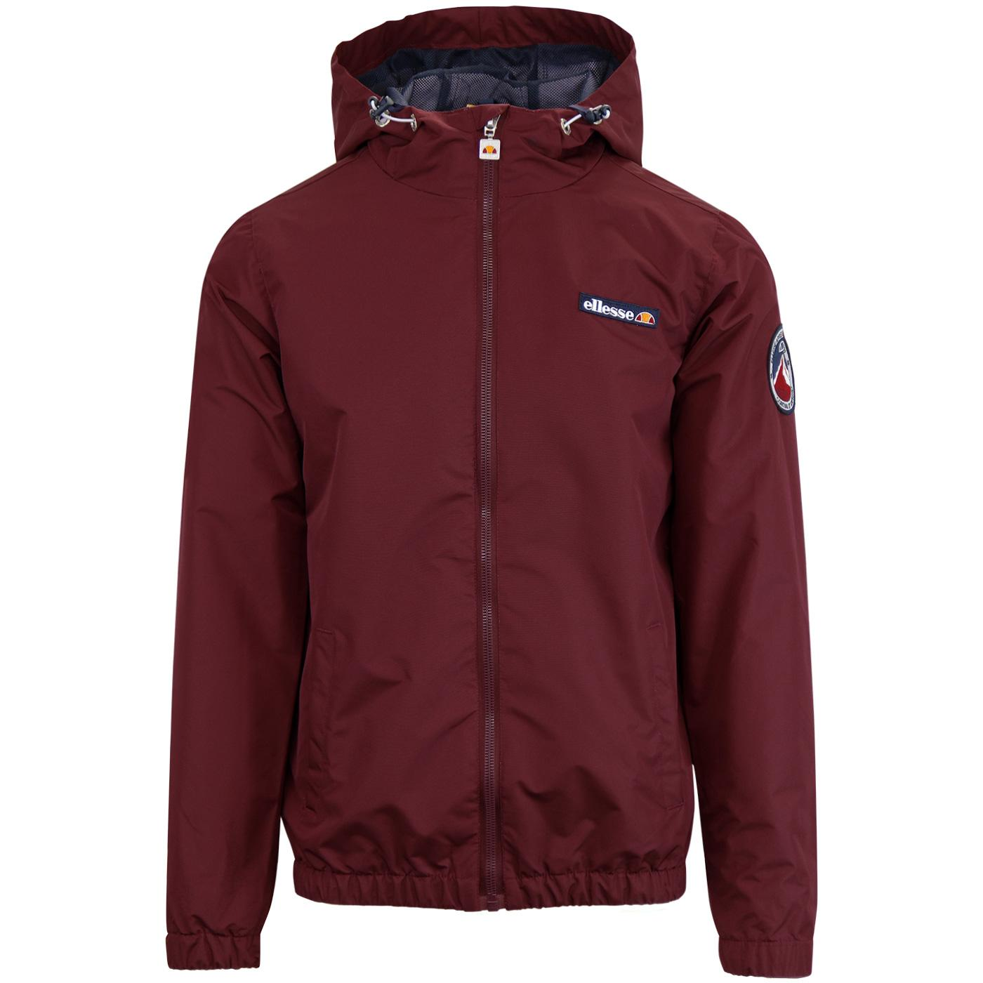 Terrazzo ELLESSE 80s Hooded Ski Jacket - Zinfandel