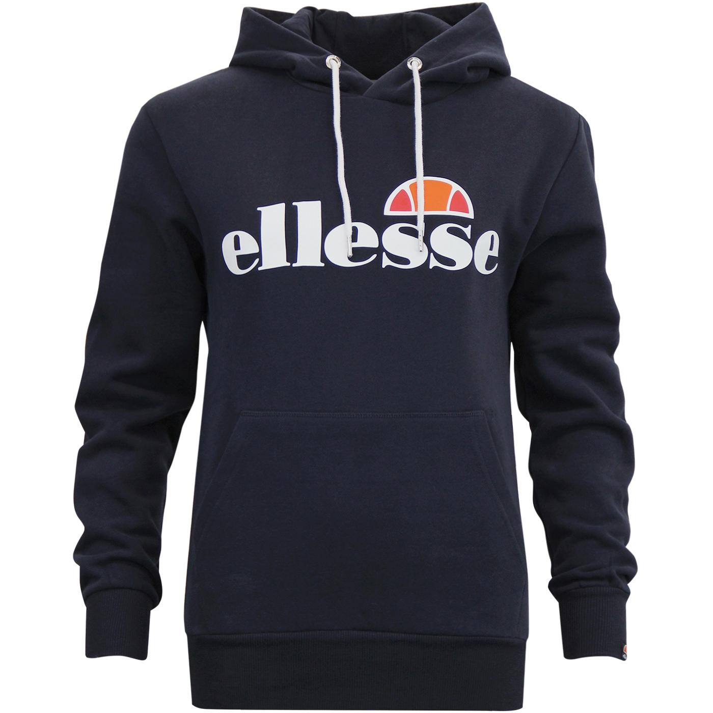 Torices ELLESSE Womens 80's Chest Logo Hoodie N
