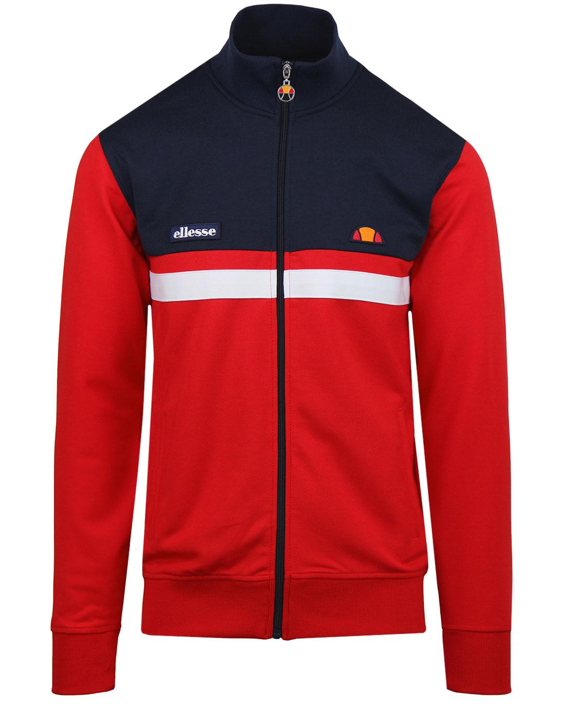 Transimeno ELLESSE Retro 1980s Panel Track Top RED