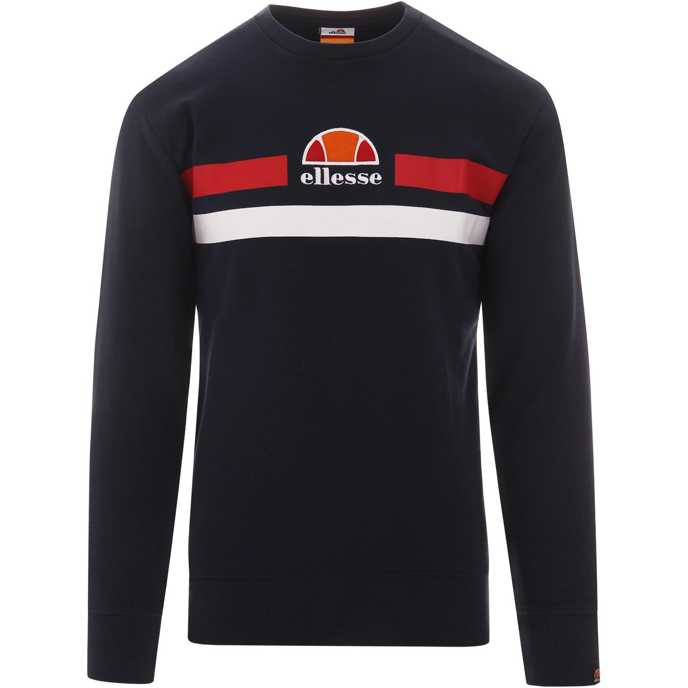 Vete ELLESSE Men's Retro Eighties Sweatshirt NAVY
