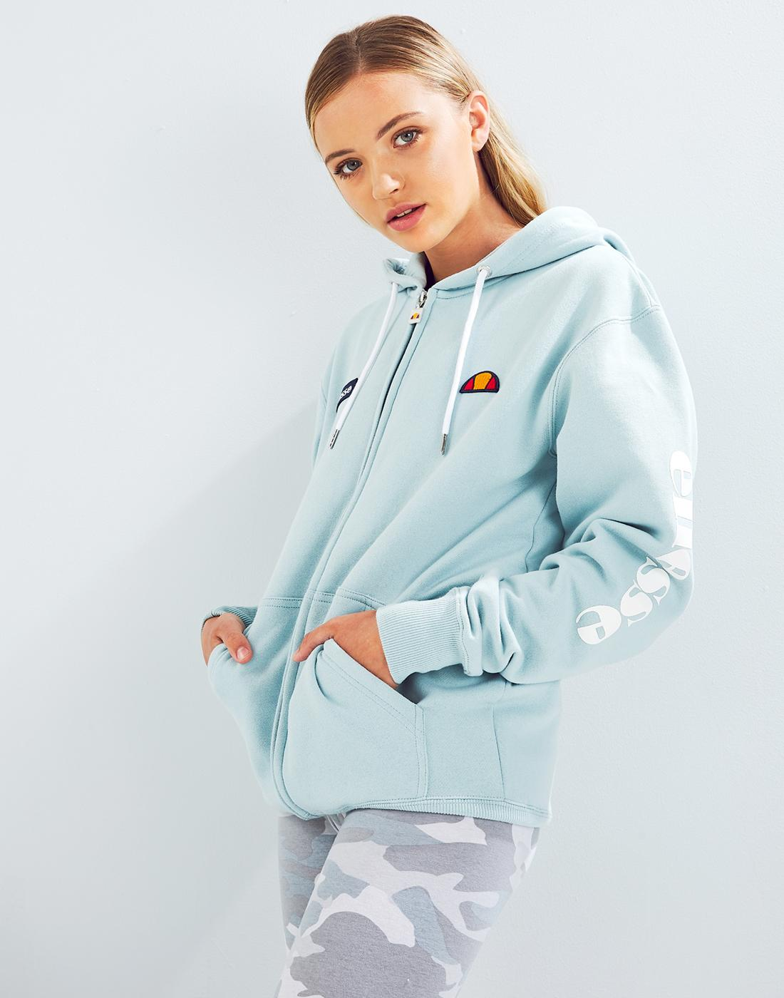 d11ee4ca ELLESSE Serinatas Women's Retro Zip Through Hoodie Sterling
