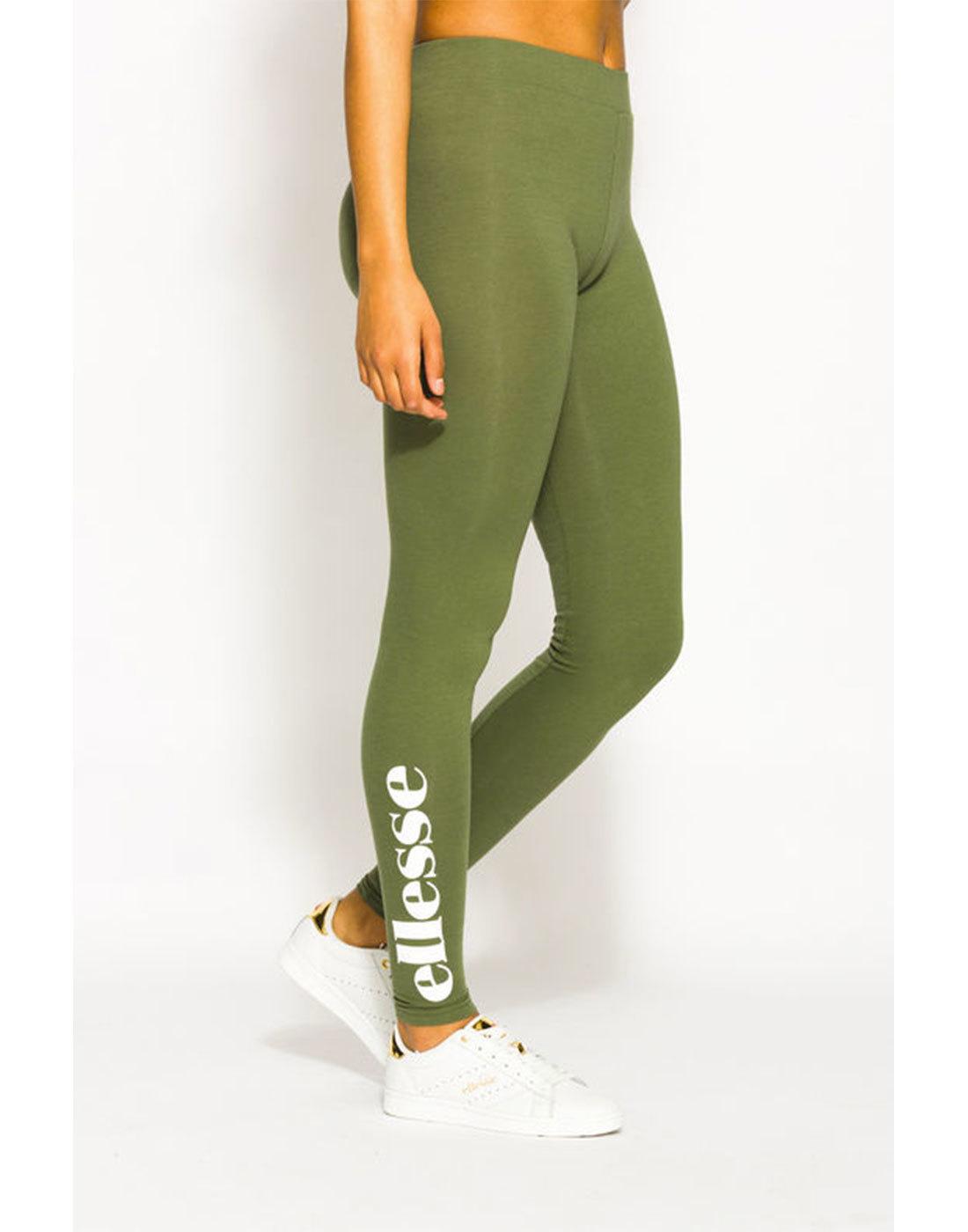 Solos ELLESSE WOMENS Retro 80s Logo Leggings Green