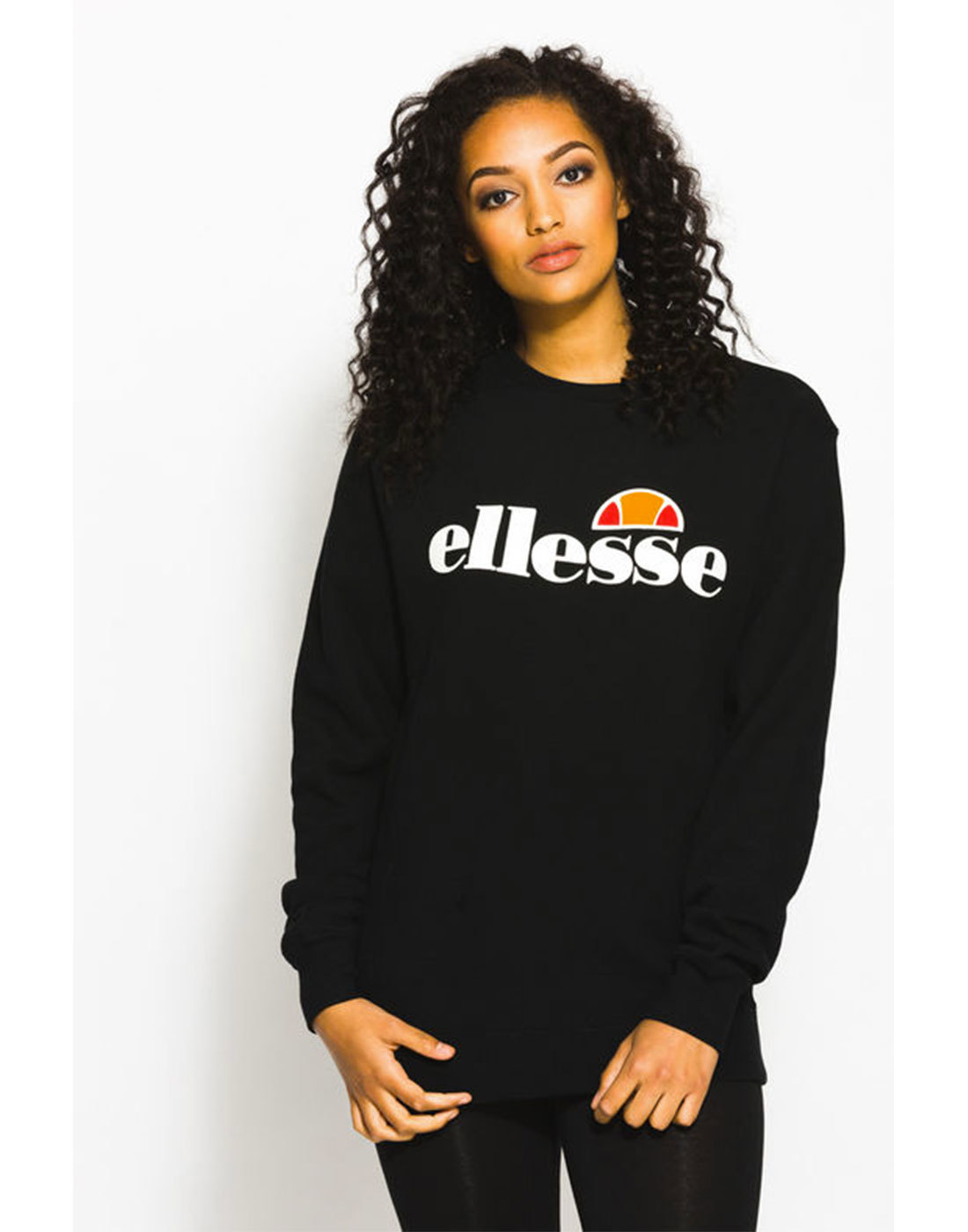 Agata ELLESSE WOMENS Retro 80s Sweat in Black