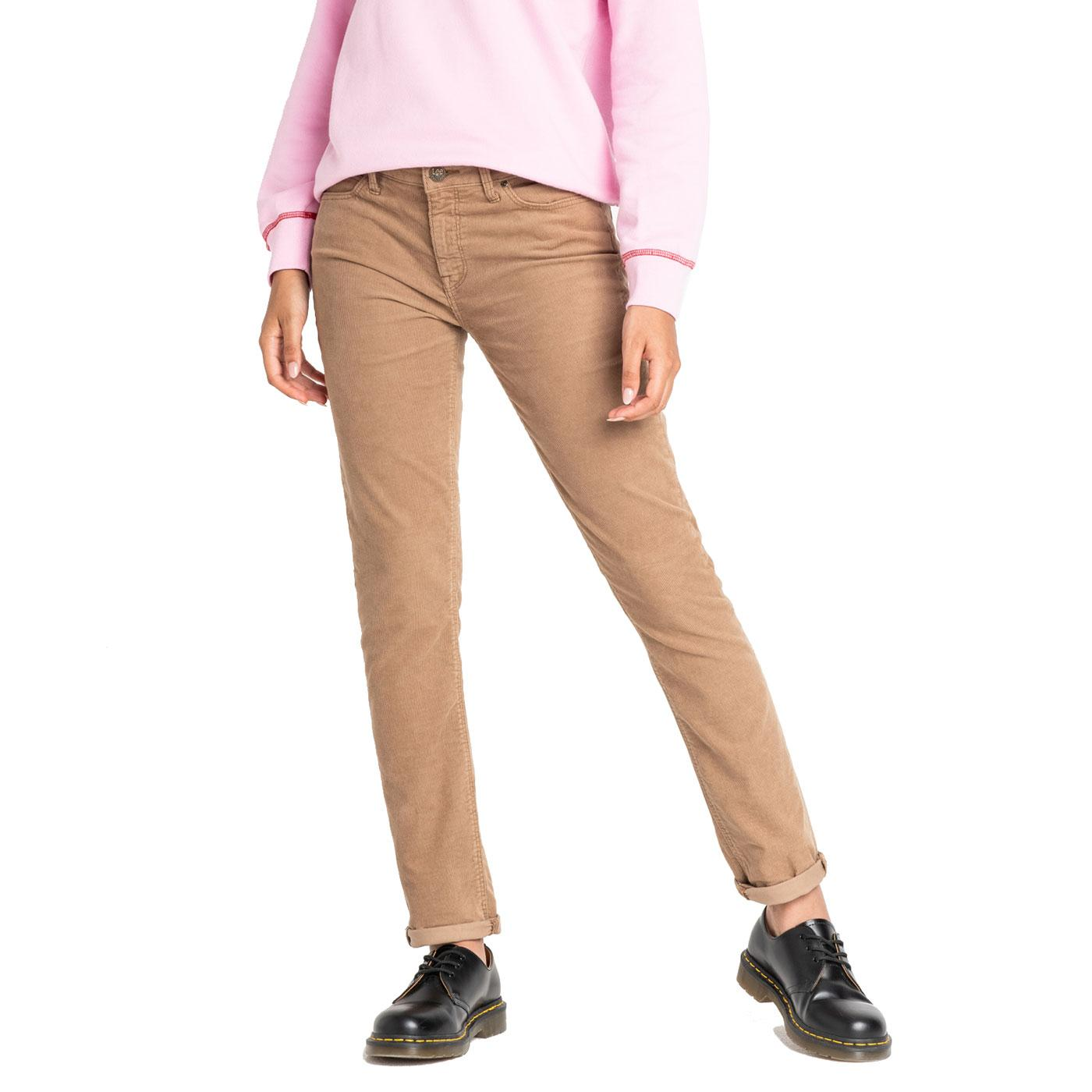 Elly LEE High Waist Slim Straight Cord Jeans LG