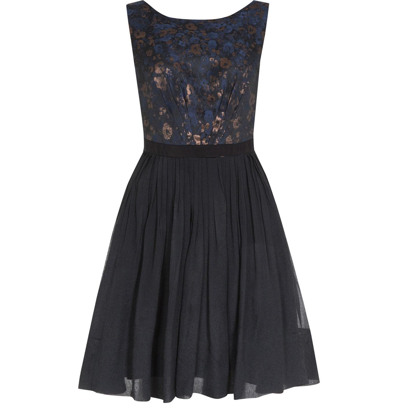 Abigail EMILY AND FIN Retro Floral Jacquard Dress