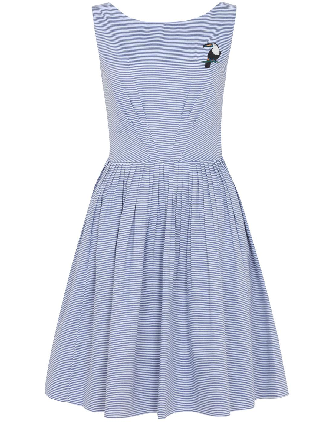 Abigail EMILY AND FIN Retro Striped Party Dress