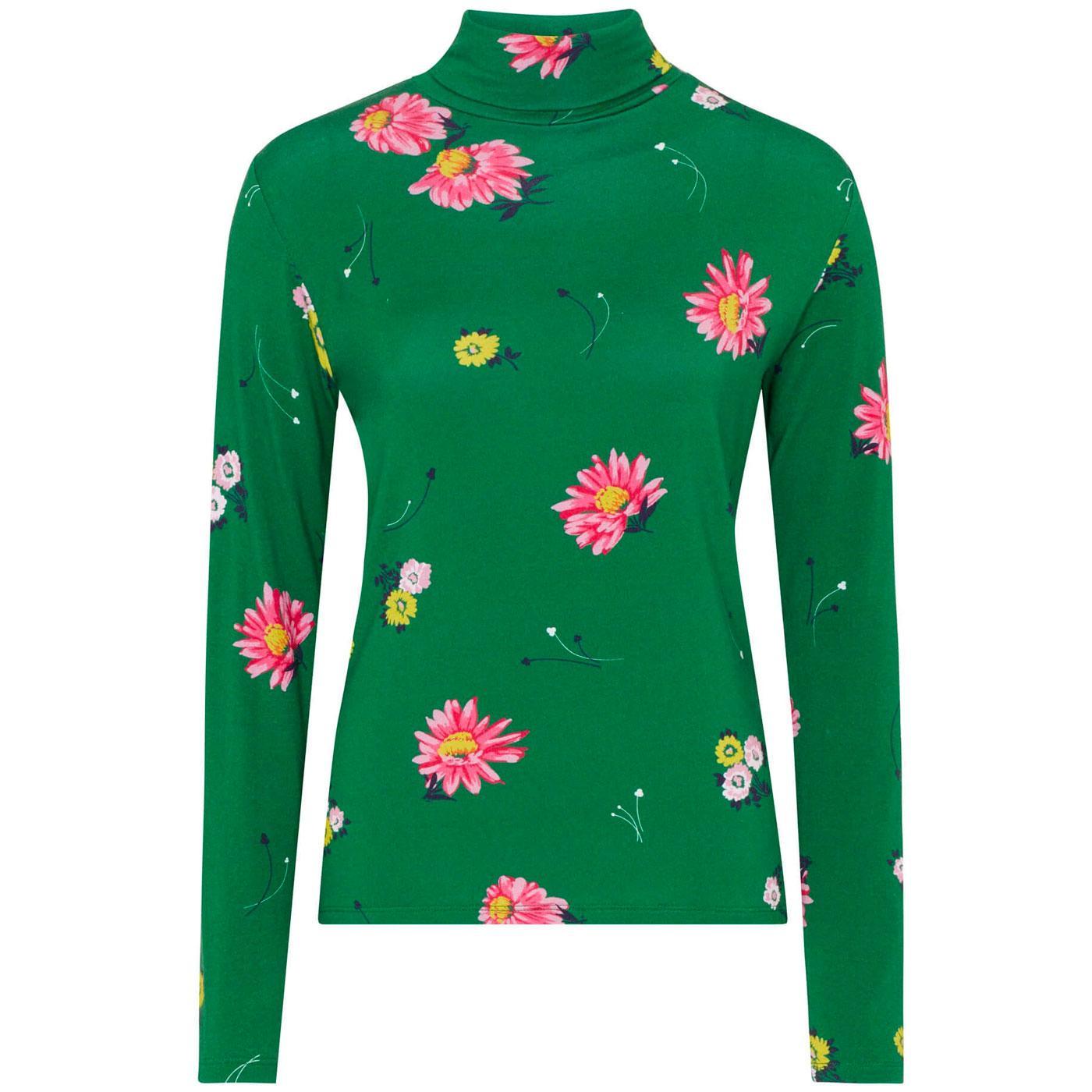 Alma EMILY & FIN Vintage 60s Floral Rollneck Top