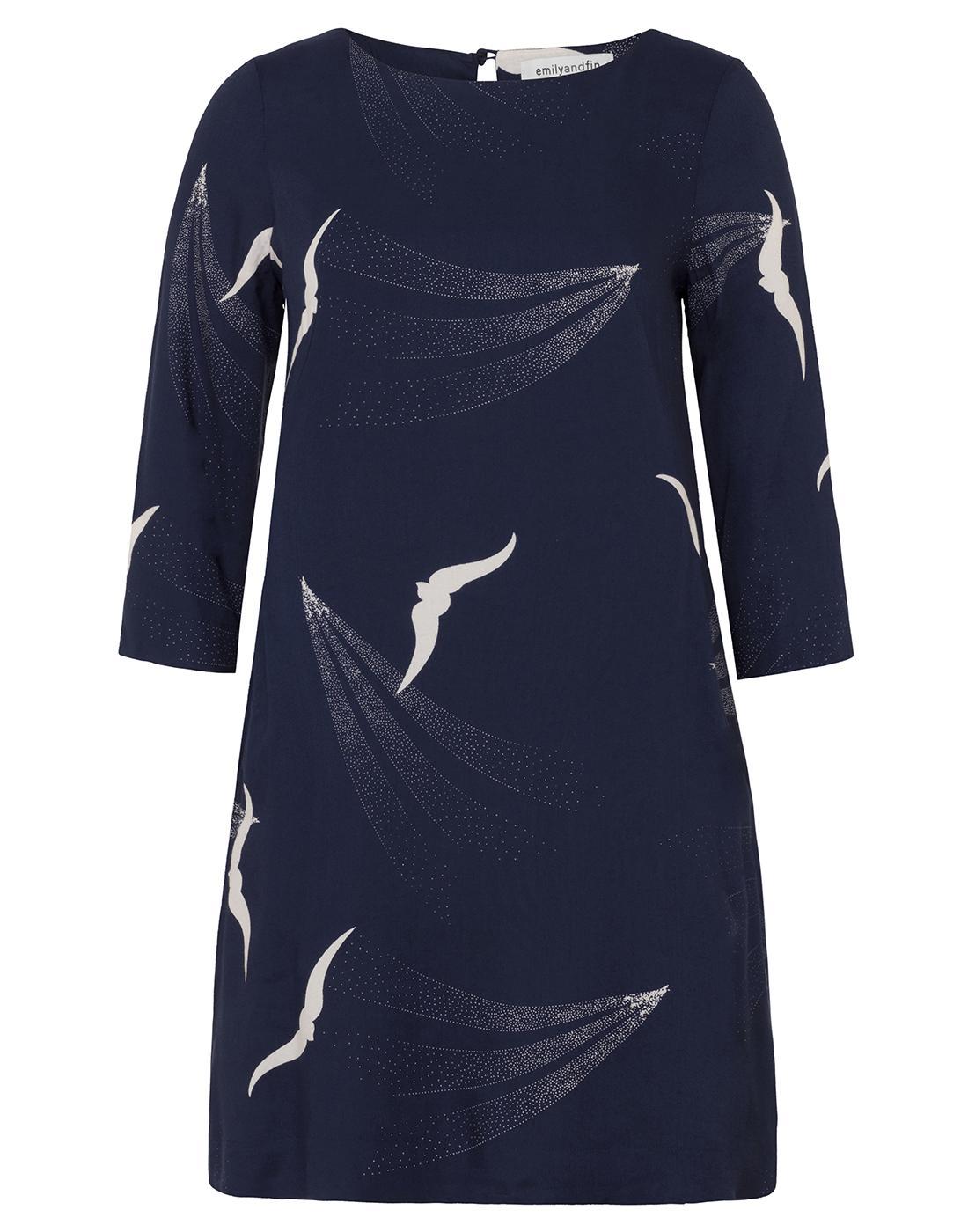 Effy EMILY AND FIN Retro Skyline Birds Tunic Dress