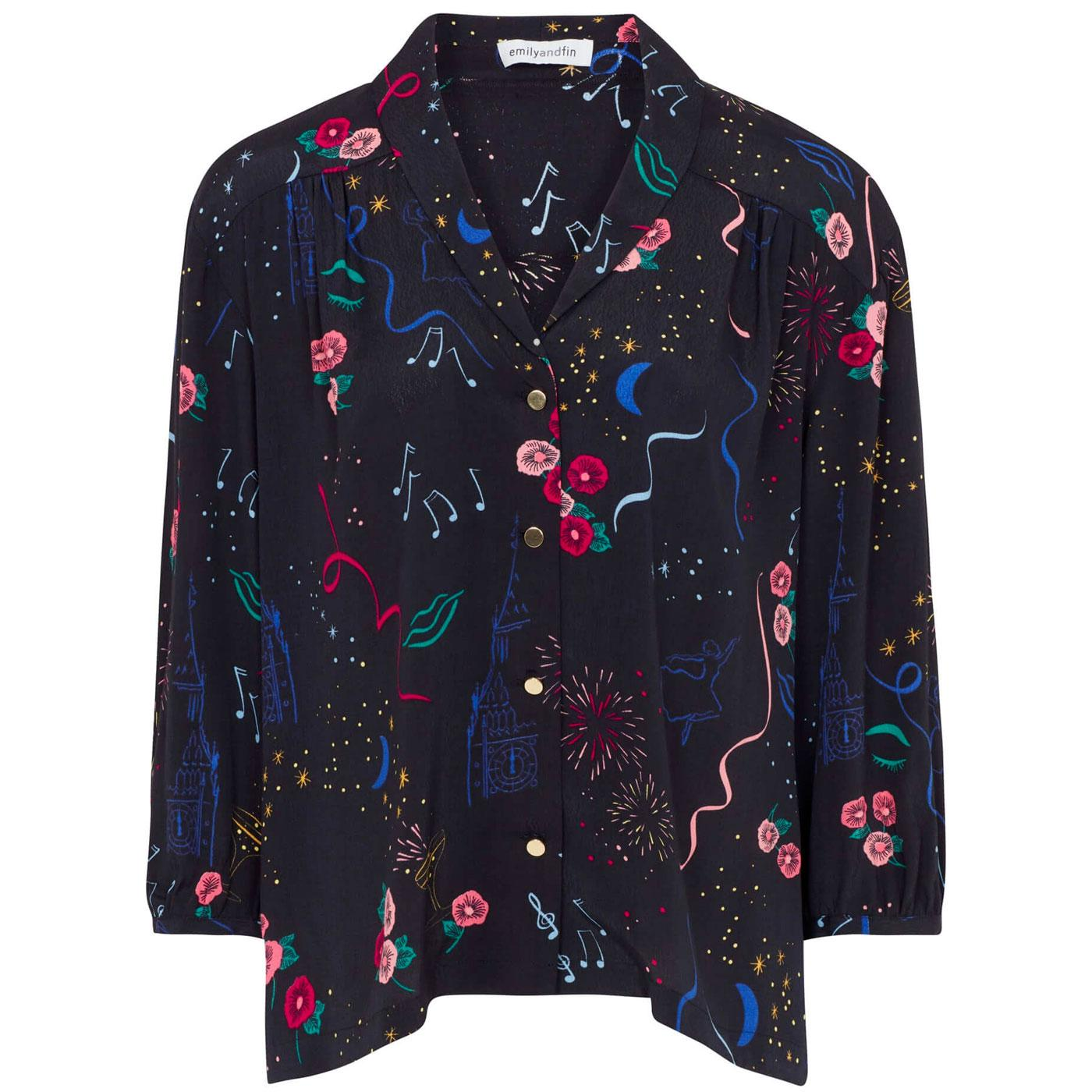 Florrie EMILY & FIN New Years Party Printed Blouse