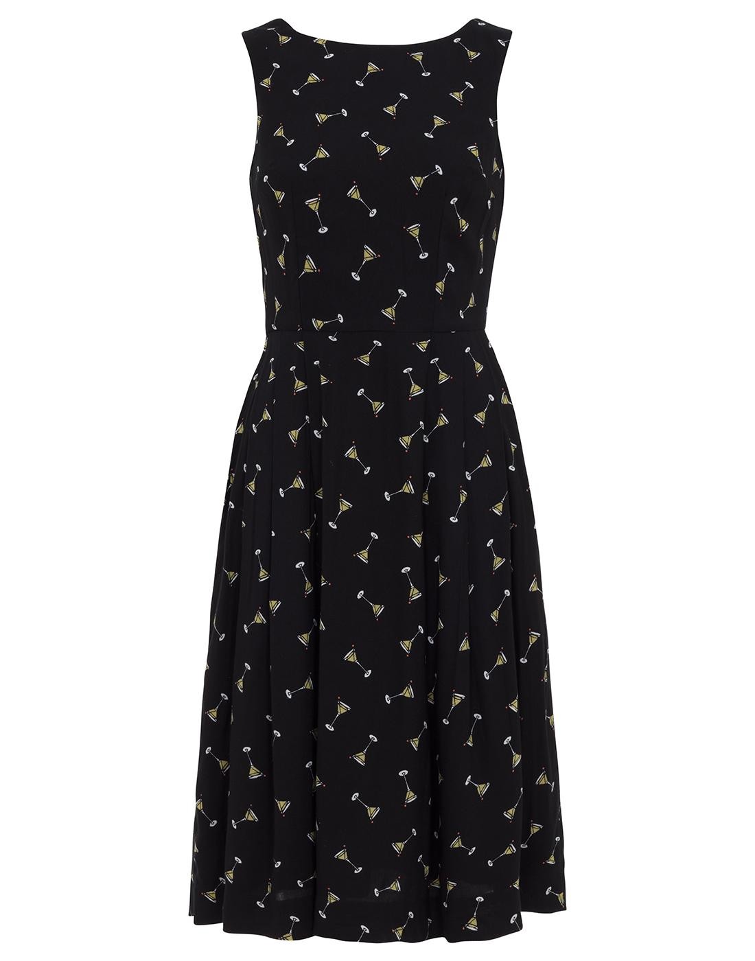 Penny EMILY AND FIN Retro 50s Cocktail Print Dress