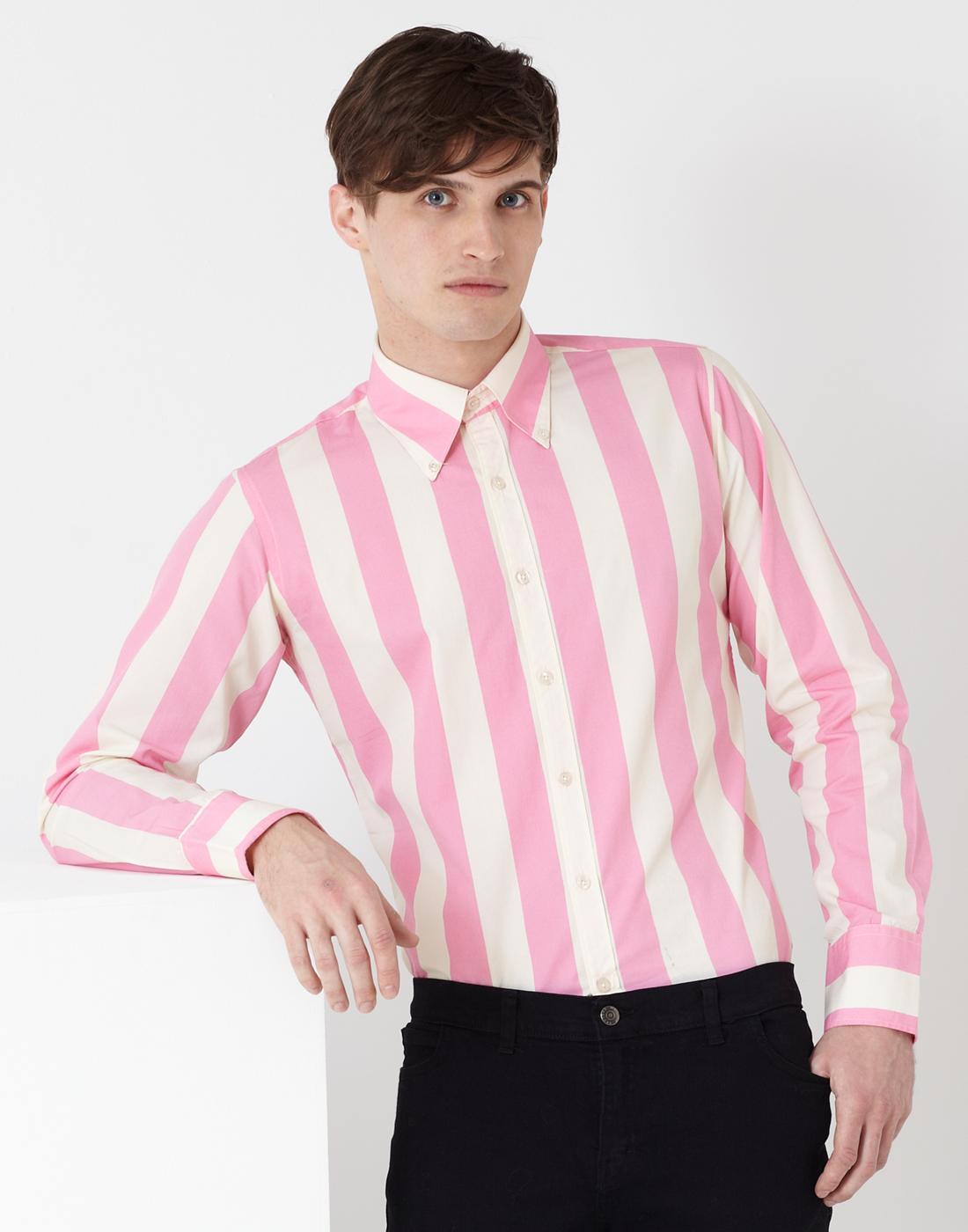 madcap england eaton mod candy stripe shirt pink