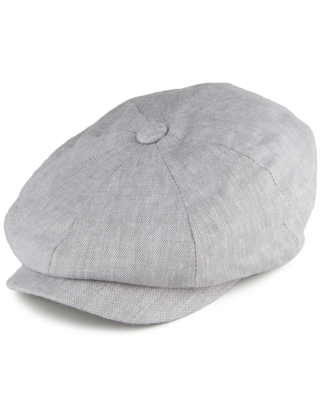 Alfie FAILSWORTH Irish Linen 8 Panel Gatsby Cap D
