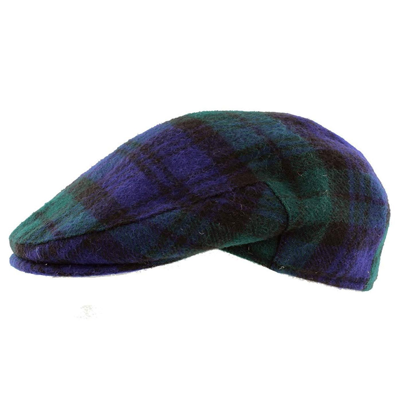 FAILSWORTH Retro Blackwatch Tartan Flat Cap