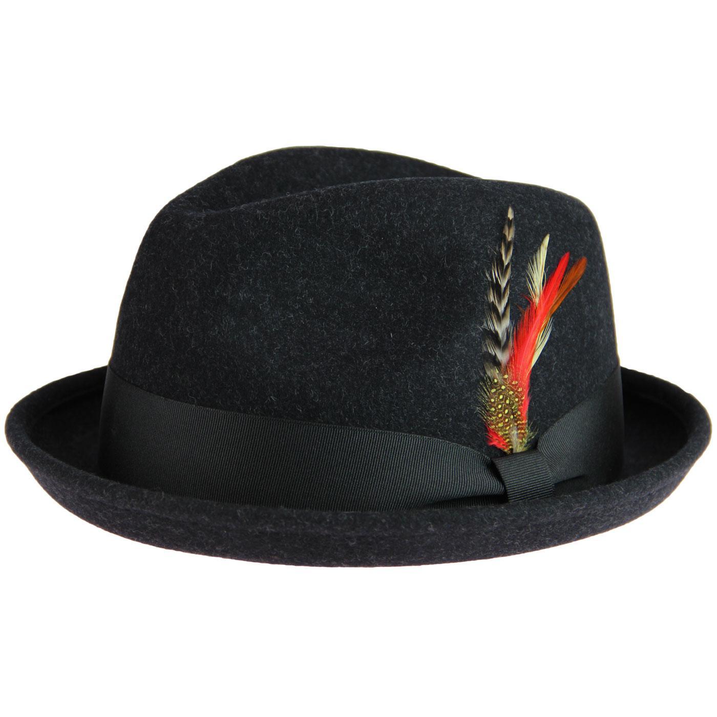 FAILSWORTH Brooklyn Mod Wool Felt Bluesman Trilby in Grey 2ad36e2cf72