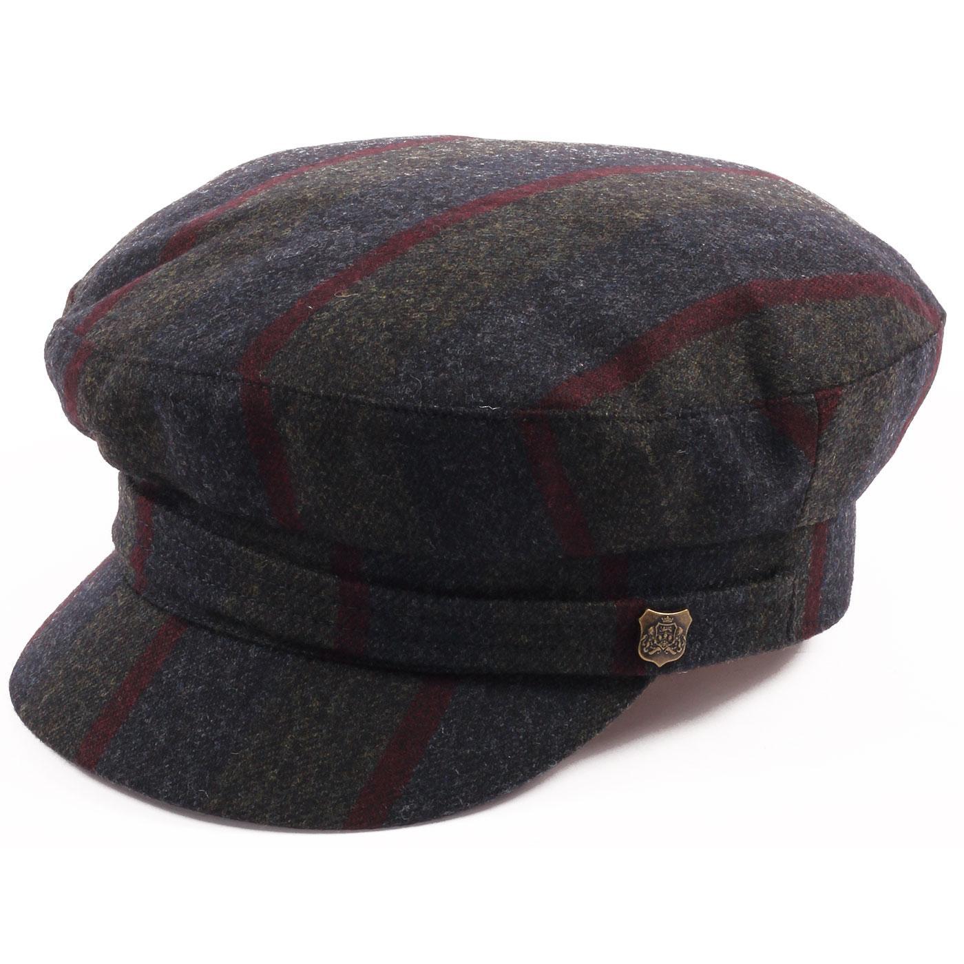 FAILSWORTH 60s Mod Camden Stripe Beatle Hat GREEN