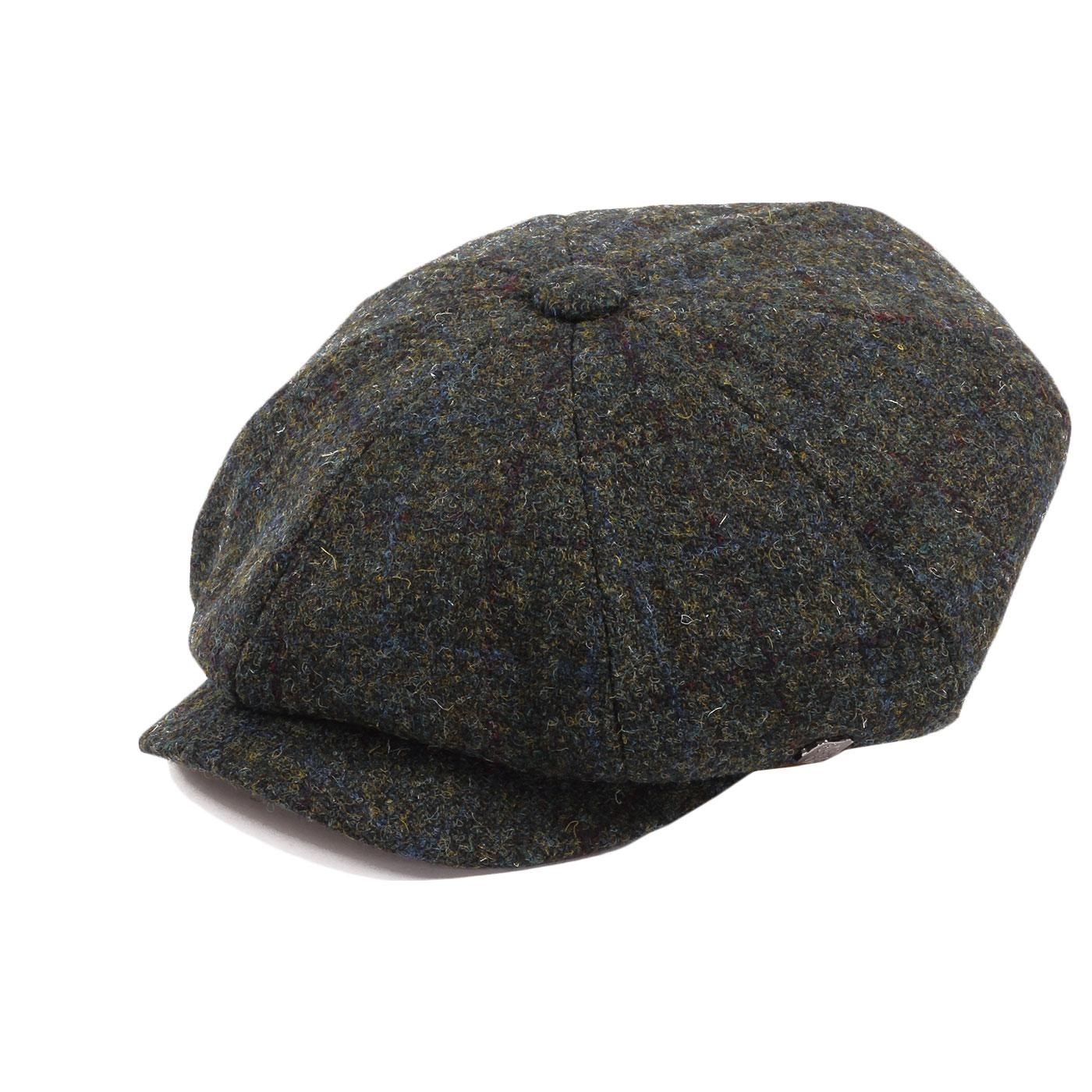 Carloway FAILSWORTH Harris Tweed Gatsby Cap GREEN