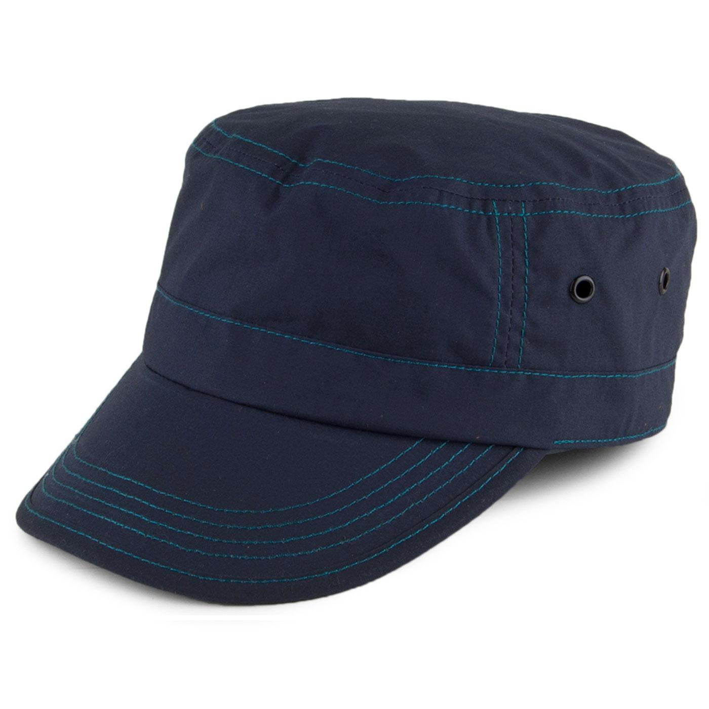 FAILSWORTH Military Dry Wax Train Driver Cap NAVY