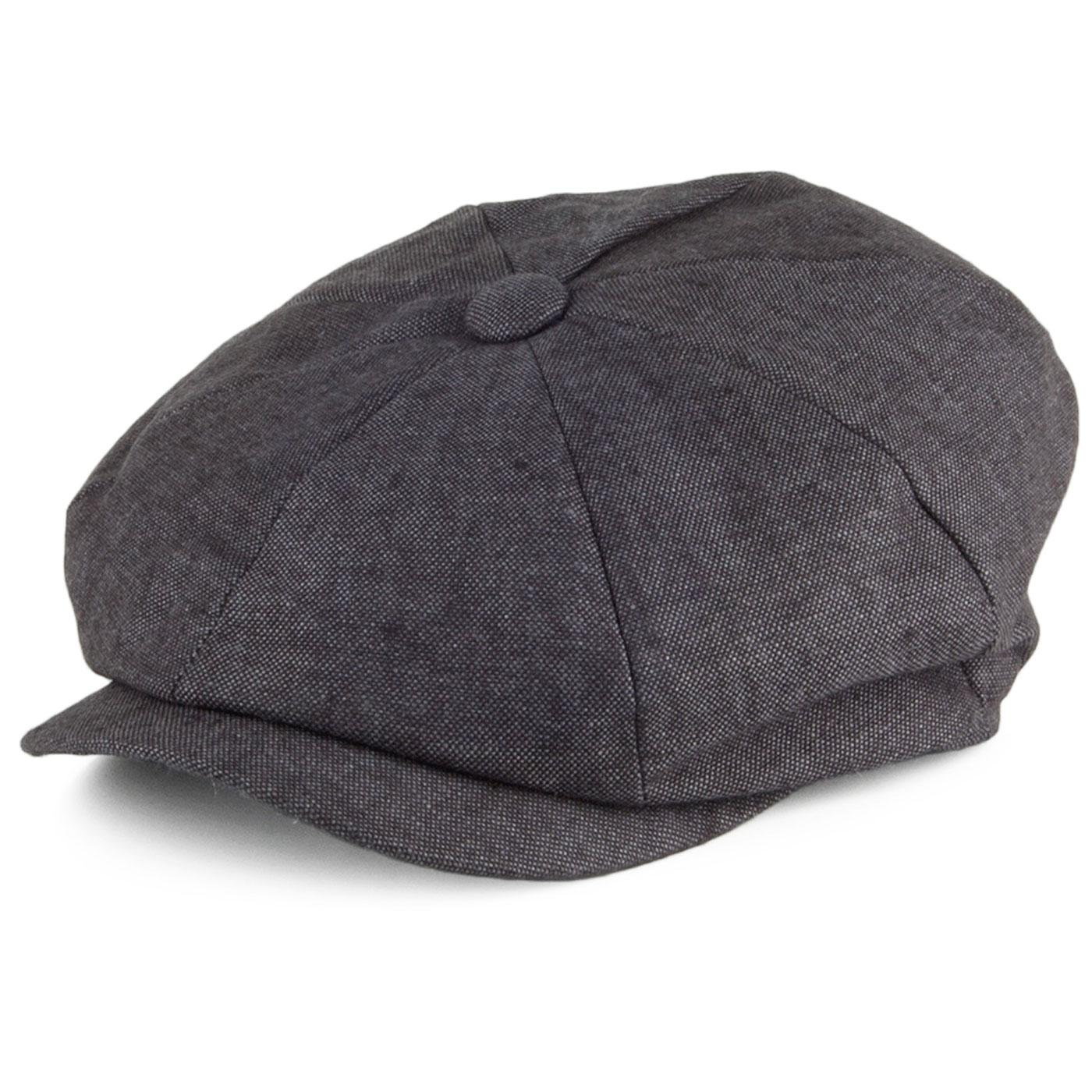 FAILSWORTH Retro Irish Linen Gatsby Hat (Charcoal)