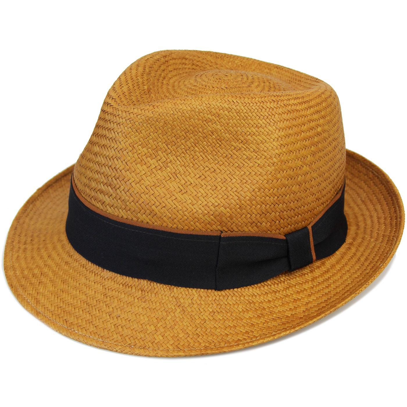 FAILSWORTH Retro Mod Contrast Stripe Panama Hat M