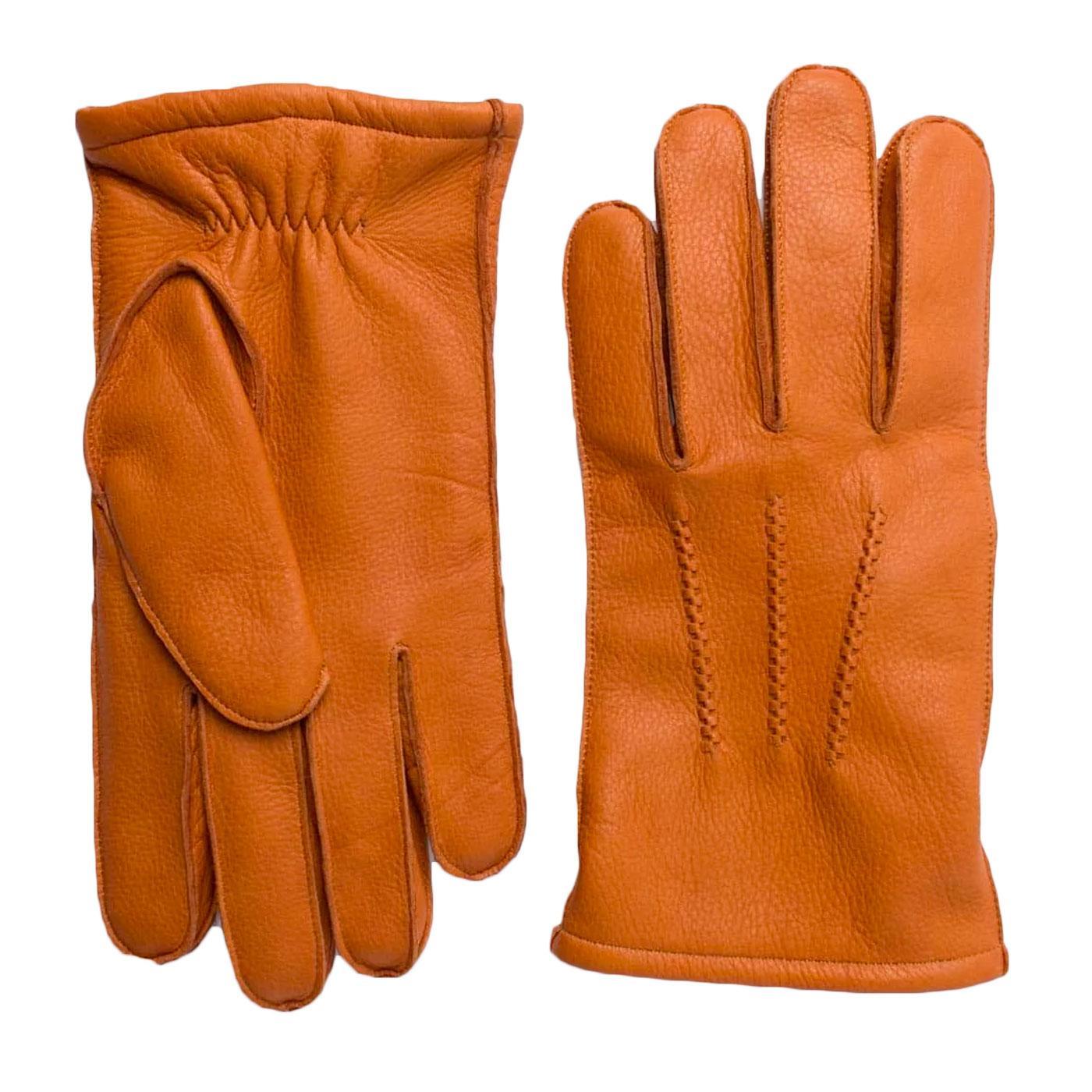 Winston FAILSWORTH Men's Retro Leather Gloves TAN