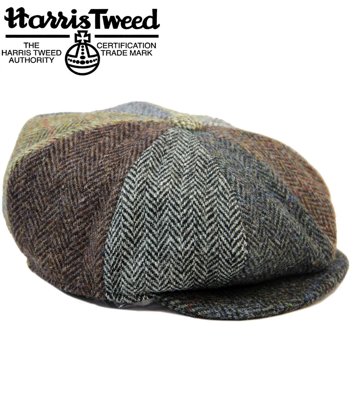 97f2510250c8b7 Lewis FAILSWORTH Harris Tweed 8 Panel Retro Newsboy Baker Boy Cap