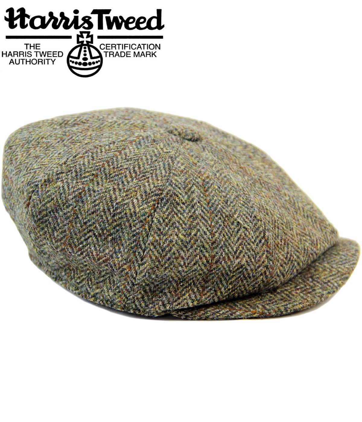 Carloway FAILSWORTH Harris Tweed Retro Gatsby Cap