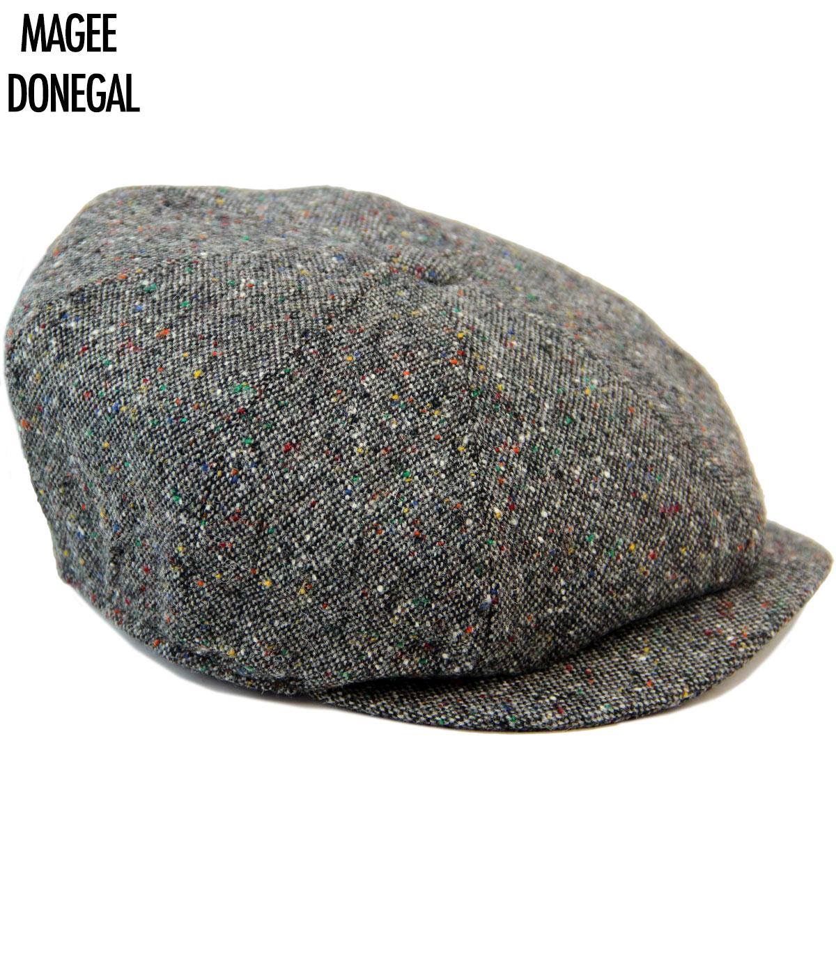 Alfie Donegal FAILSWORTH Magee Retro Mod Wool Gatsby Cap in Grey 7790d21e1128