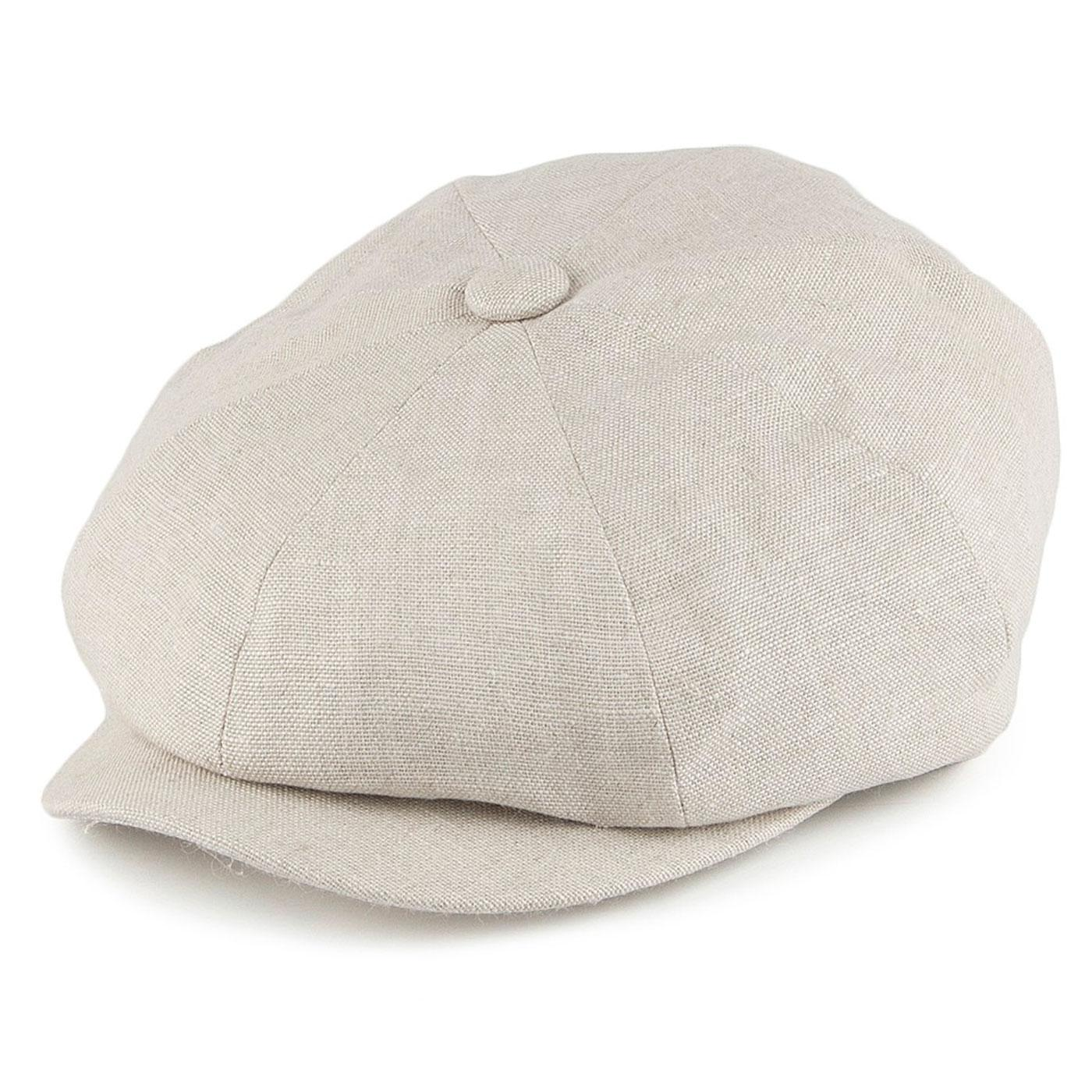 FAILSWORTH Retro Irish Linen Gatsby Hat (Natural)