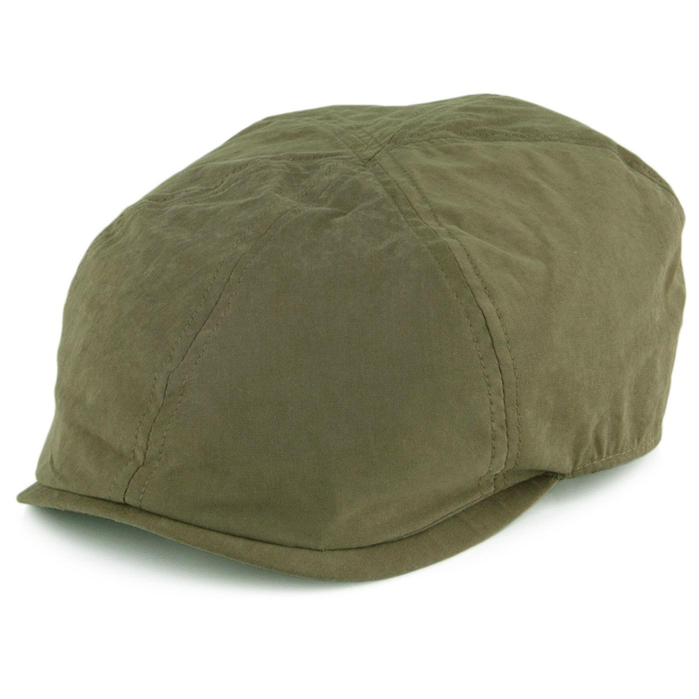 FAILSWORTH Micro 6 Panel Retro Newsboy Cap (Olive)